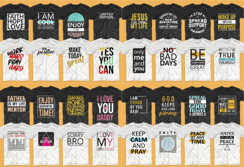900+ Trending T-shirt Designs Mega Bundle - 38