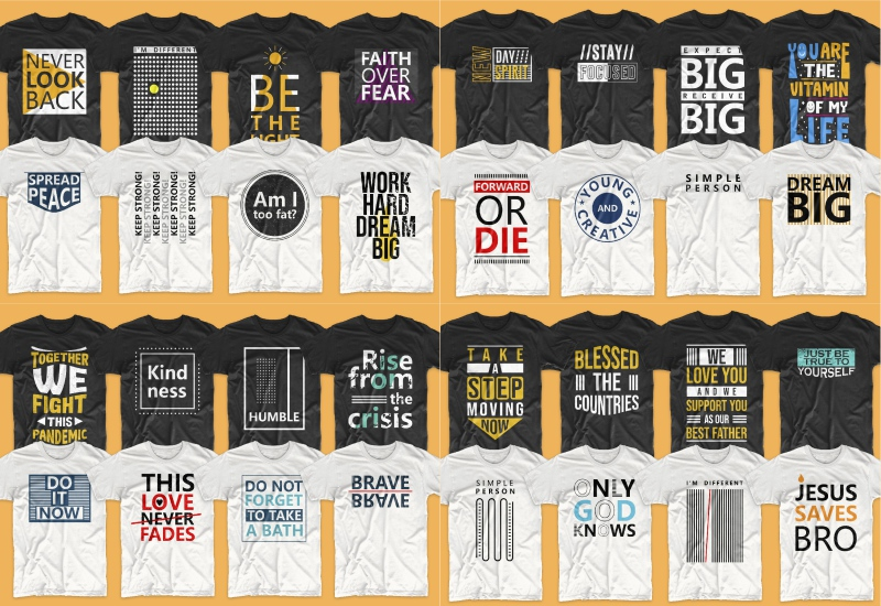 900+ Trending T-shirt Designs Mega Bundle - 39