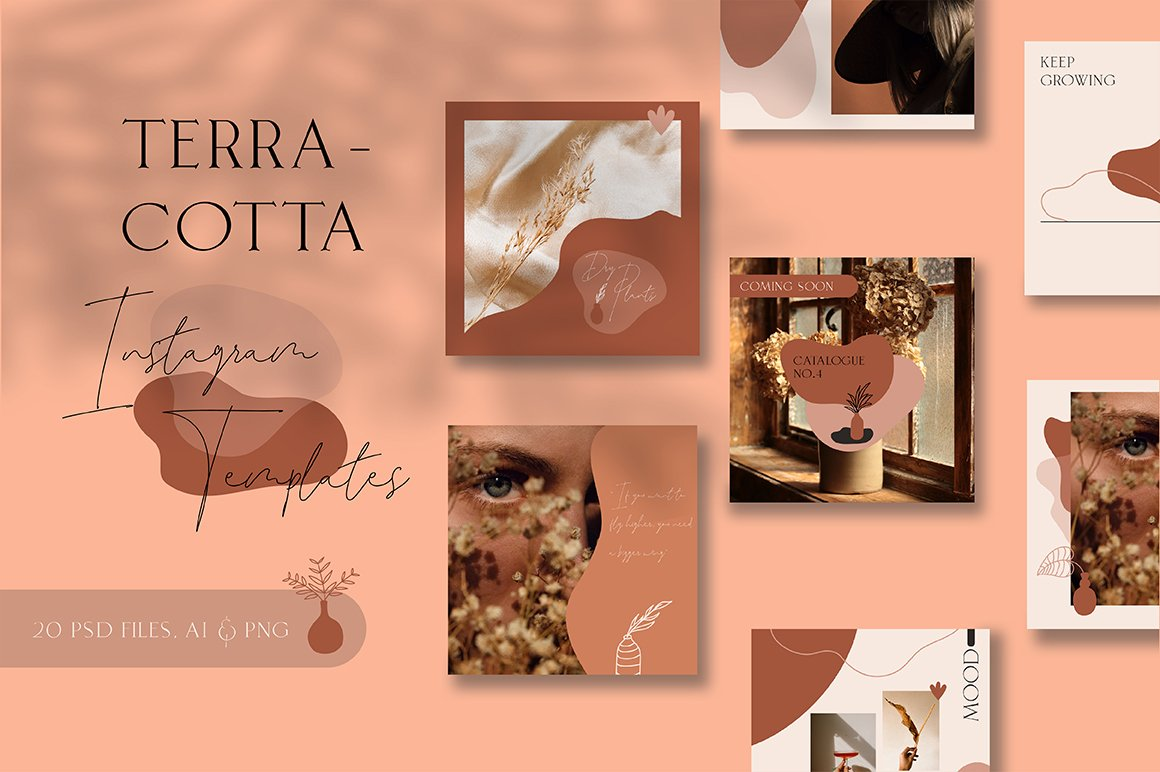 Terracotta Instagram Templates (With 40+ Illustrations & Decorative) - 4 1 1