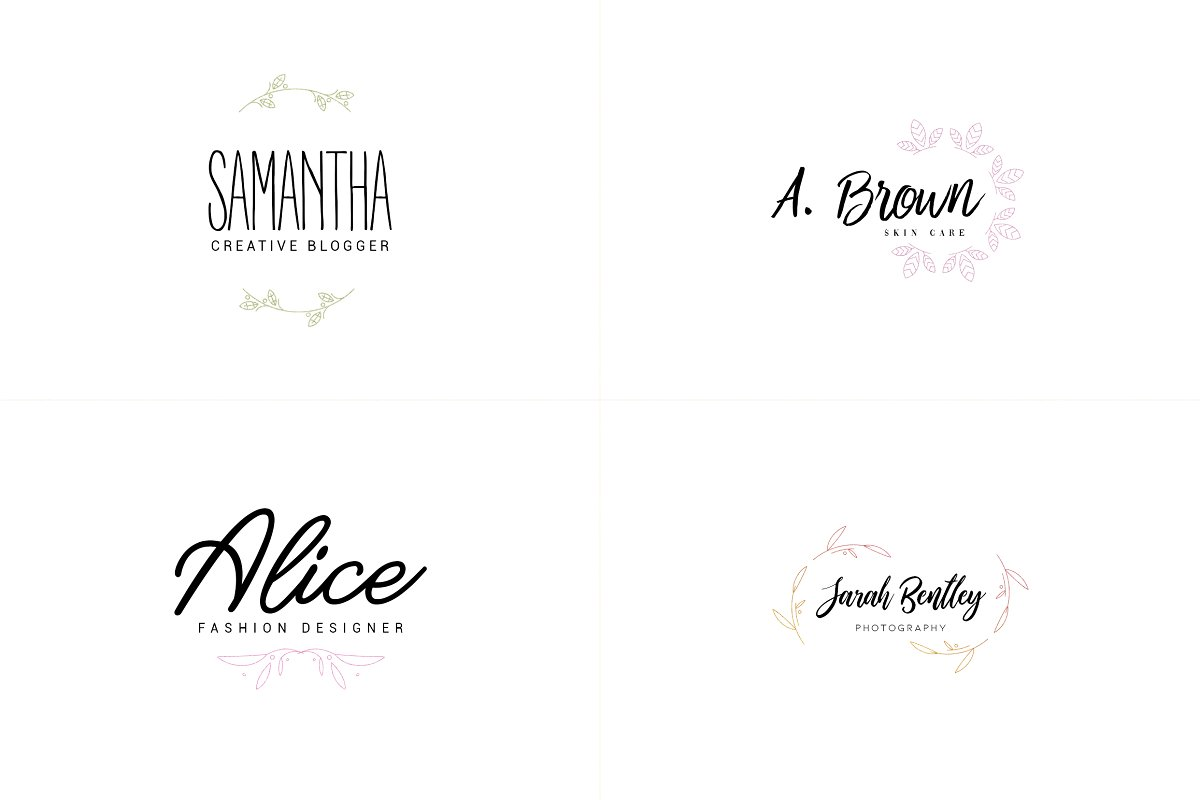 20 Elegance Logo Design Bundle - 4 1 8