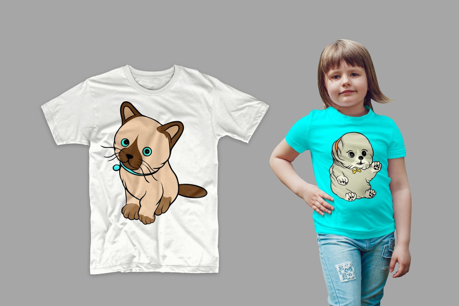 T-shirts with kittens.