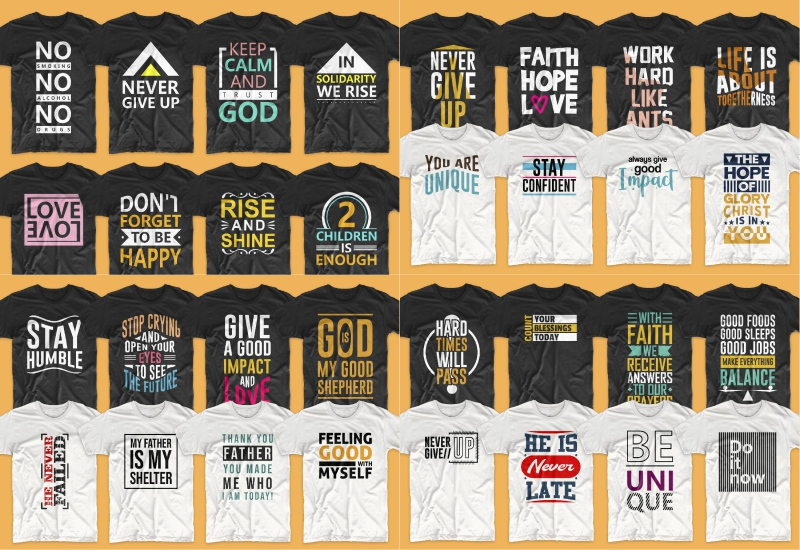 900+ Trending T-shirt Designs Mega Bundle - 40