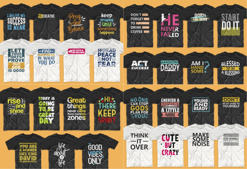 900+ Trending T-shirt Designs Mega Bundle - 41