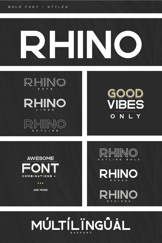 Pinterest Image: Rhino Interstate Bold Font + Styles | 70% off.