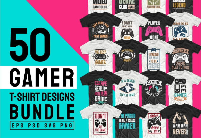 900+ Trending T-shirt Designs Mega Bundle - 45