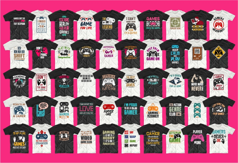 900+ Trending T-shirt Designs Mega Bundle - 47