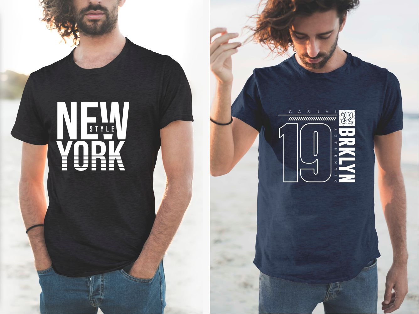 T-shirts with a classic cut in dark colors with a minimalist design.