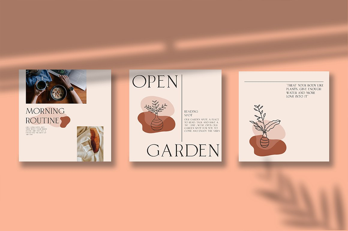 Terracotta Instagram Templates (With 40+ Illustrations & Decorative) - 5 1 1