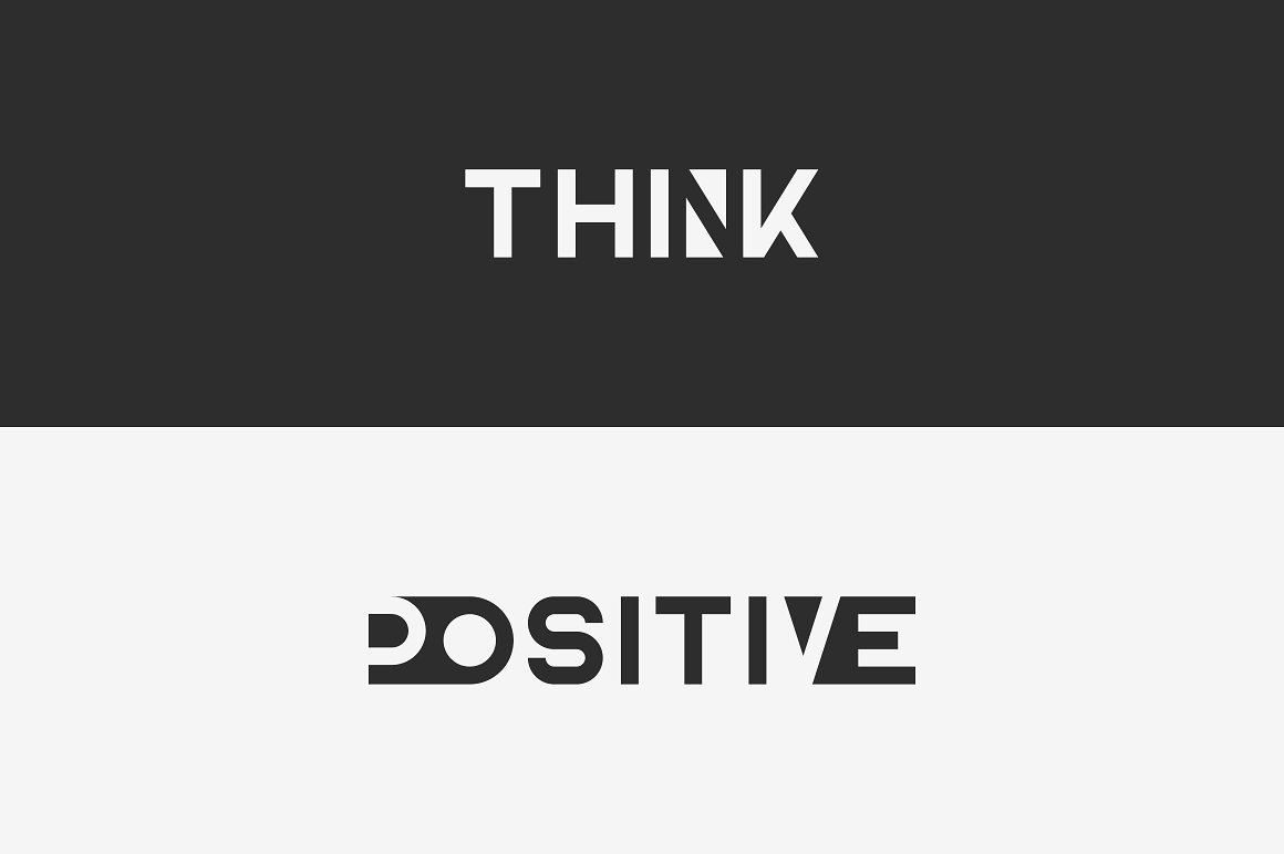 Blackpaper - 1st Negative Space Font - 5 1 4