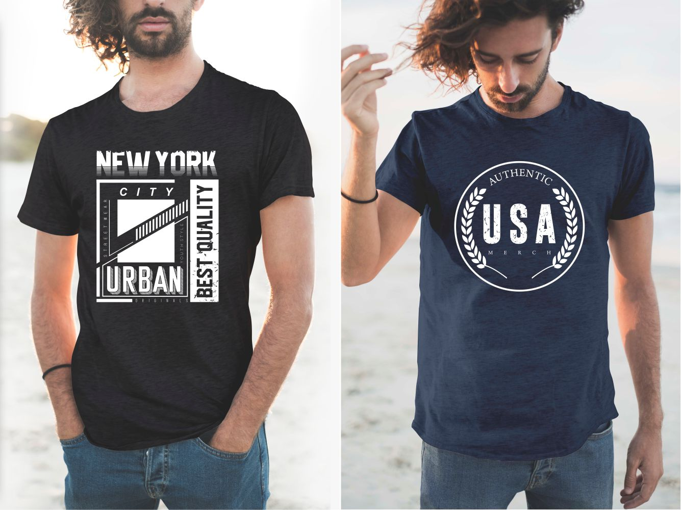 Dark classic T-shirts for men with a versatile design.