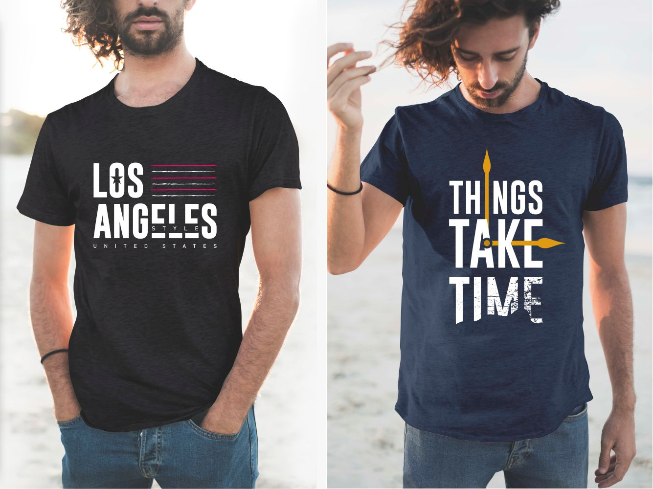 The original design of the lettering on the T-shirts makes them ultra stylish and relevant. in our time.
