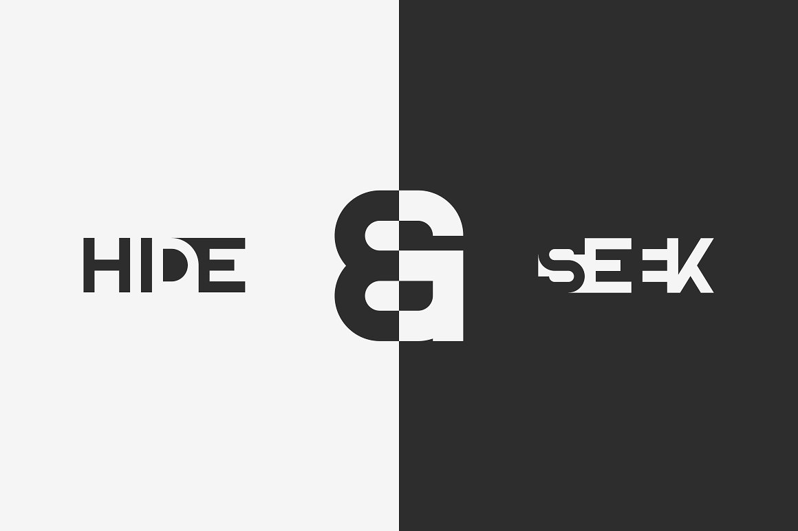 Blackpaper - 1st Negative Space Font - 6 1 4