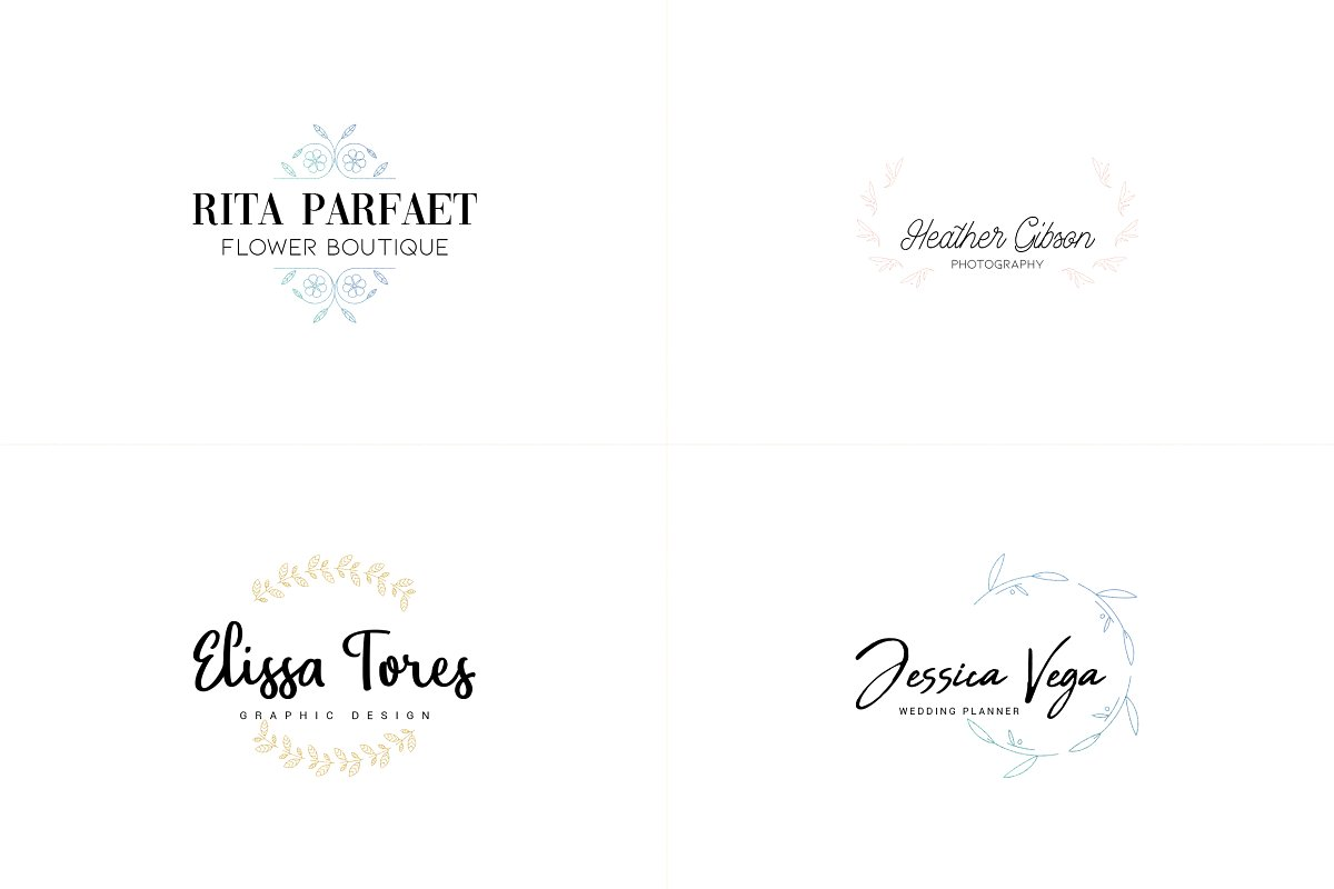 20 Elegance Logo Design Bundle - 6 1 7