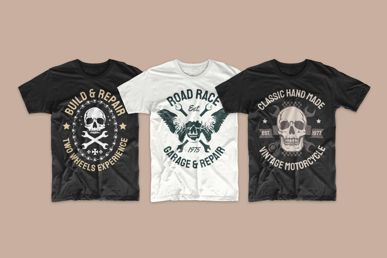 T-shirts with skulls.