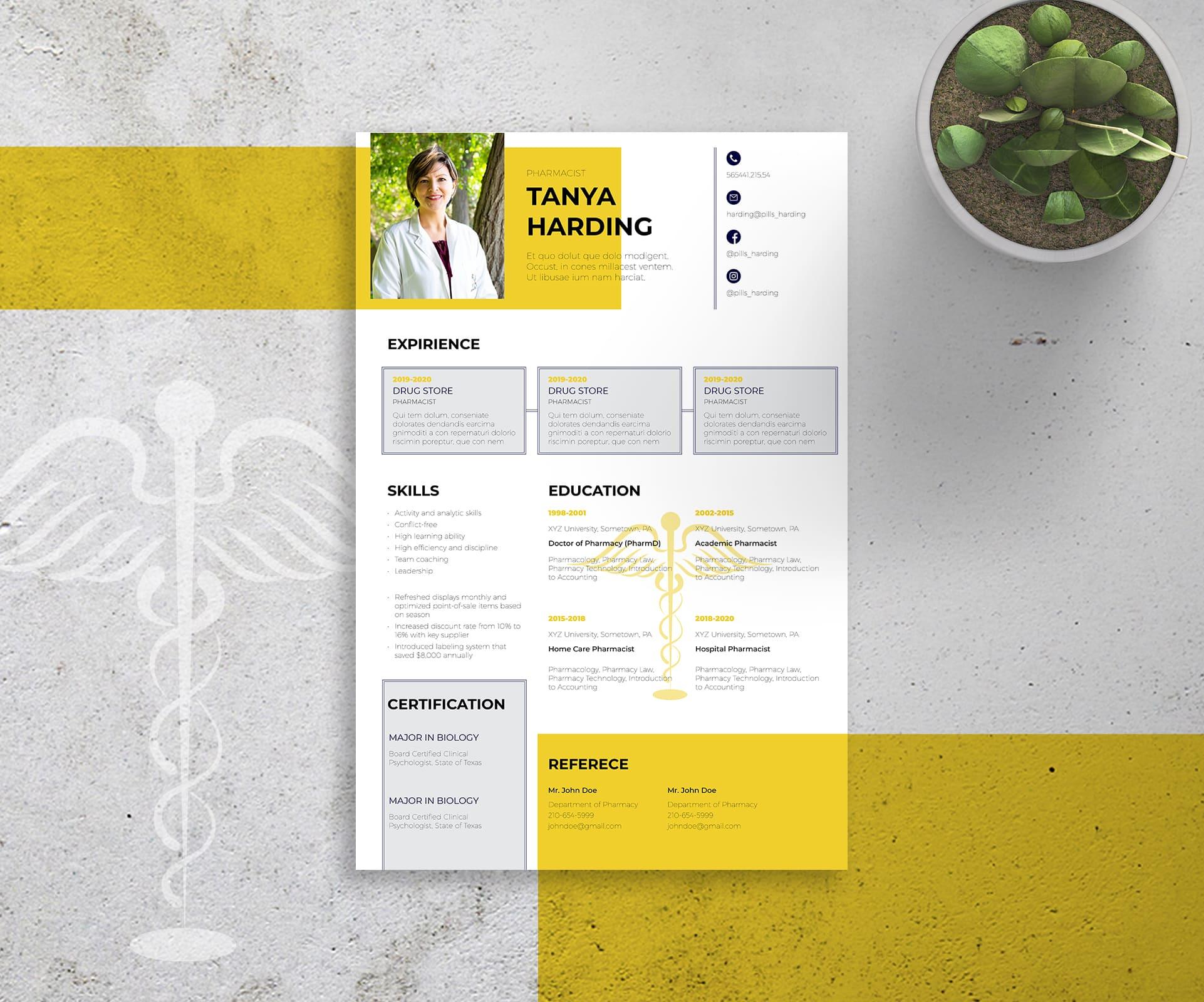 Nursing & Medical Resume Templates InDesign Bundle - 7 3