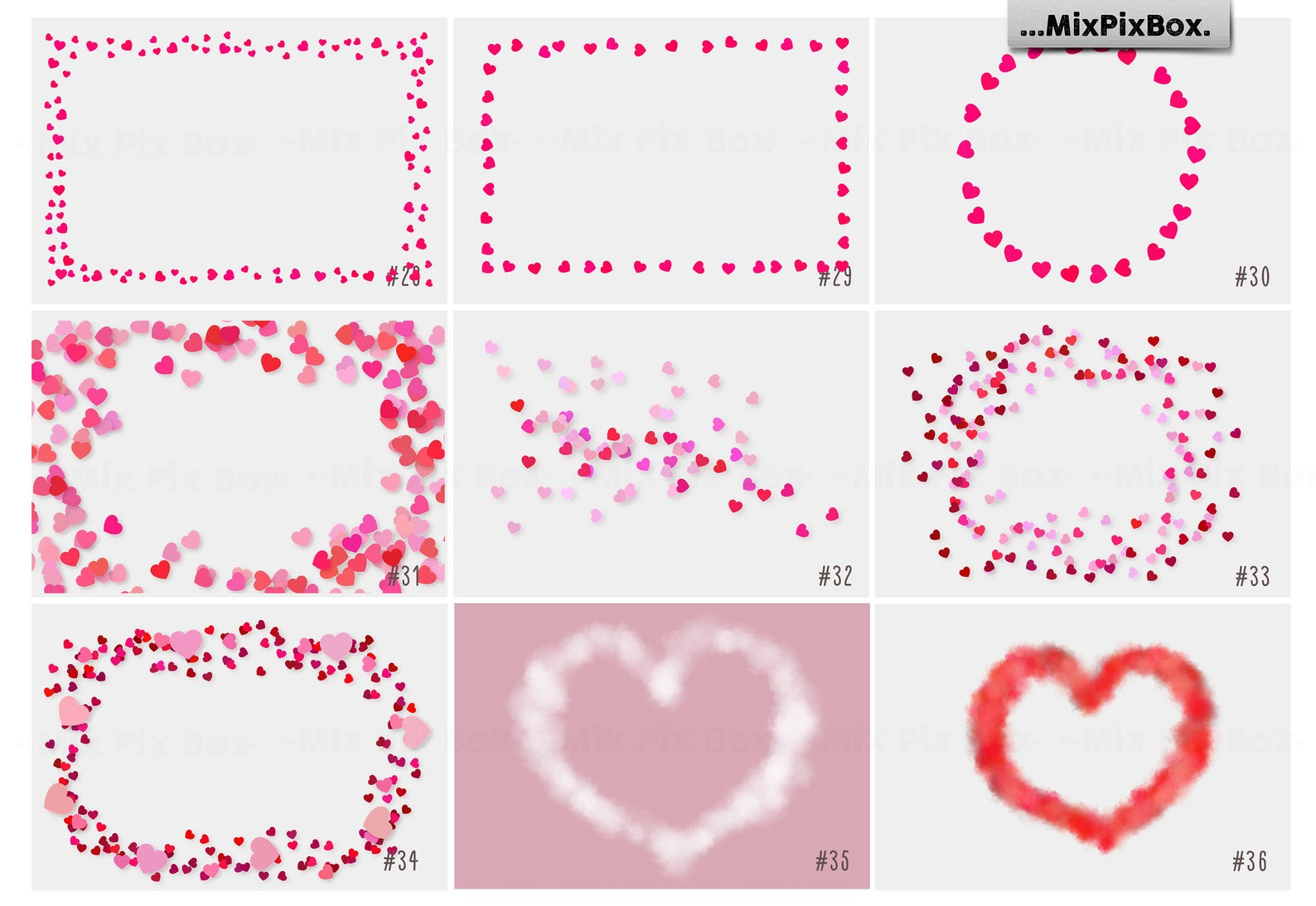 Love Overlays PNG: 38 Photo Overlays High Resolution - 7