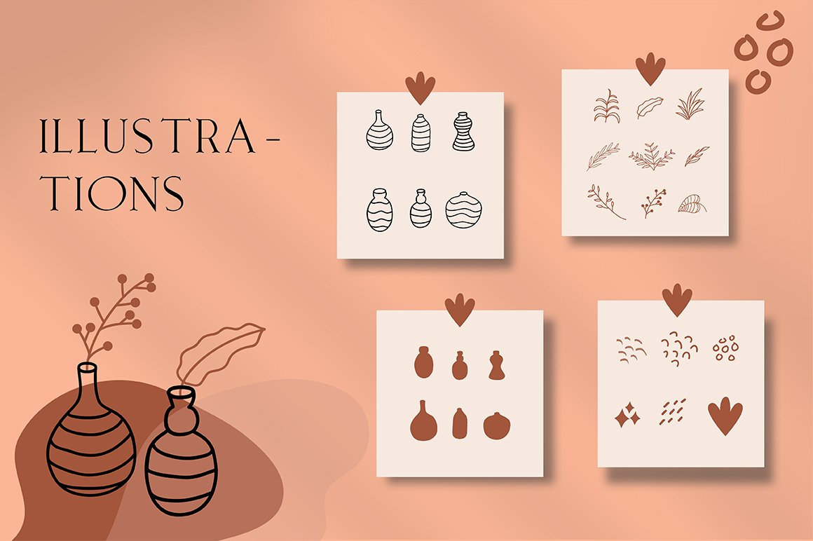 Terracotta Instagram Templates (With 40+ Illustrations & Decorative) - 8 1 1