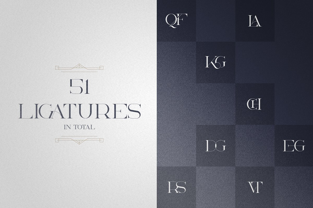 Art Deco Serif Fonts + Extras - 8 1 5