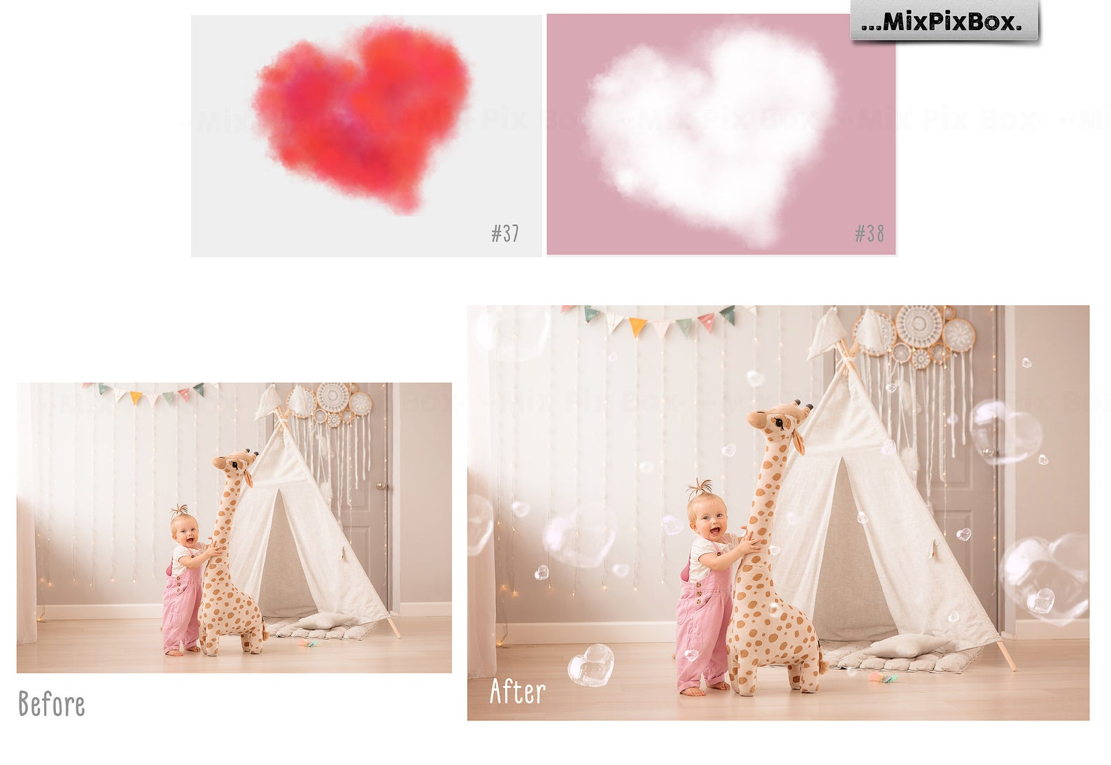 Love Overlays PNG: 38 Photo Overlays High Resolution - 8