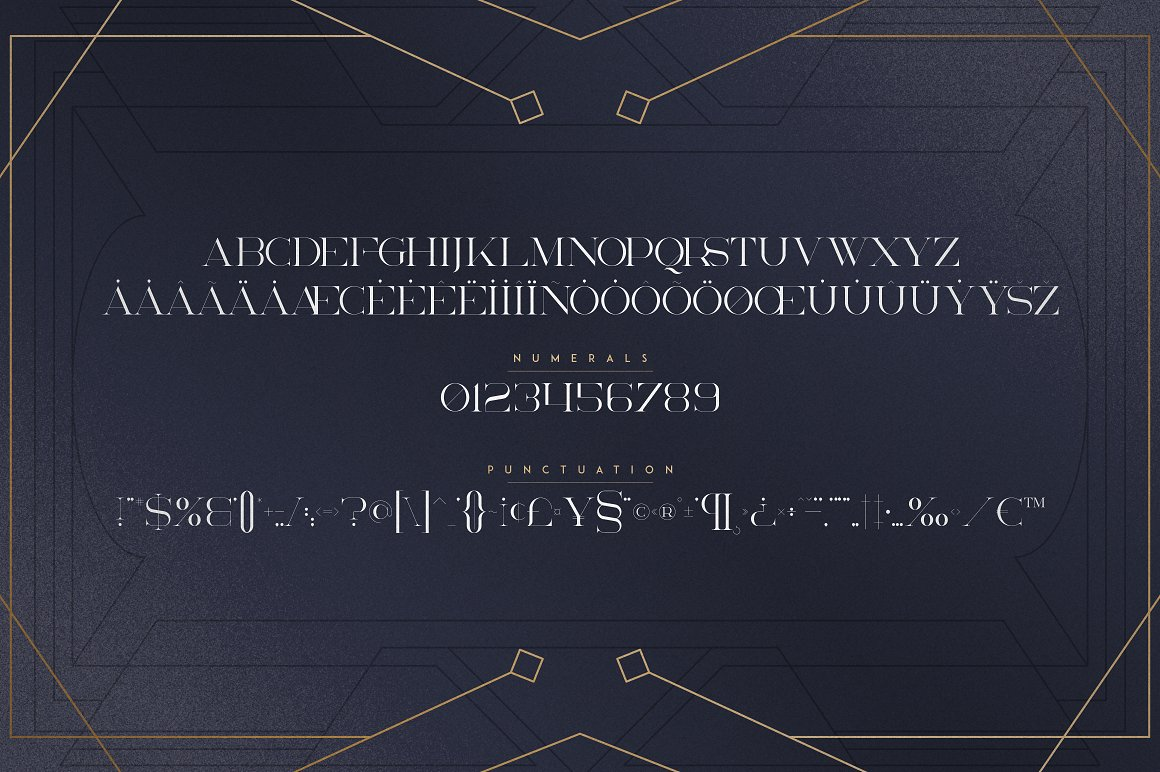 Art Deco Serif Fonts + Extras - 9 1 6