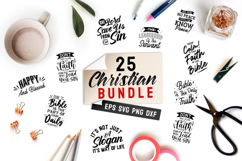 Christian quotes bundle.Quote Designs.