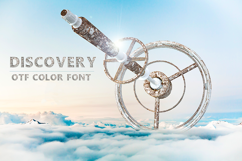 21 Color Fonts: FaeryDesign & PandoraDreams Render Fonts - Discovery 00