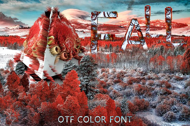 21 Color Fonts: FaeryDesign & PandoraDreams Render Fonts - Fire 00