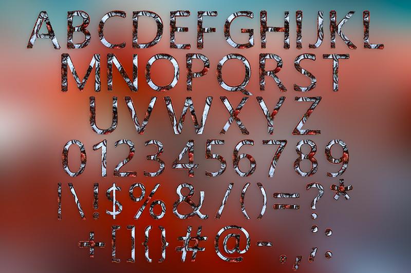 21 Color Fonts: FaeryDesign & PandoraDreams Render Fonts - Fire 01