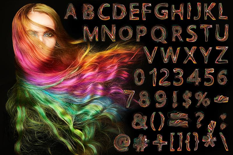 21 Color Fonts: FaeryDesign & PandoraDreams Render Fonts - Growth 01