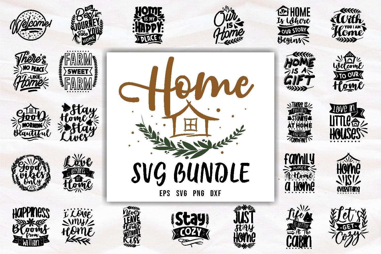 Home svg bundle.Quote Designs.
