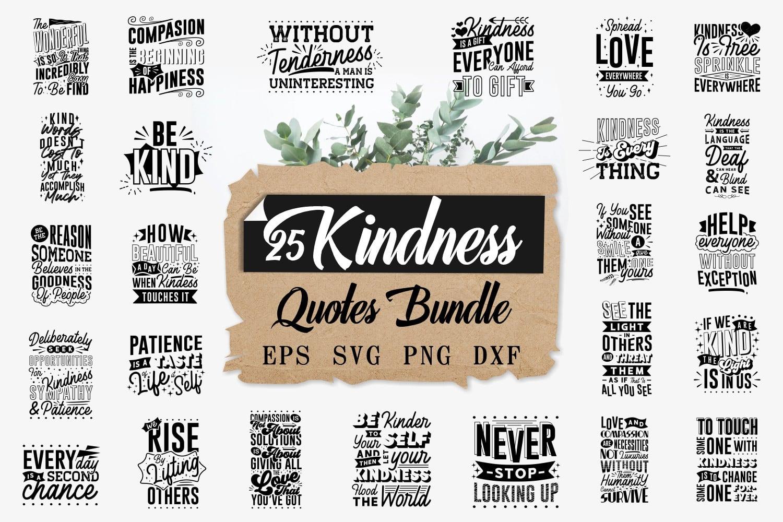 Kindness quote bundle.Quote Designs.