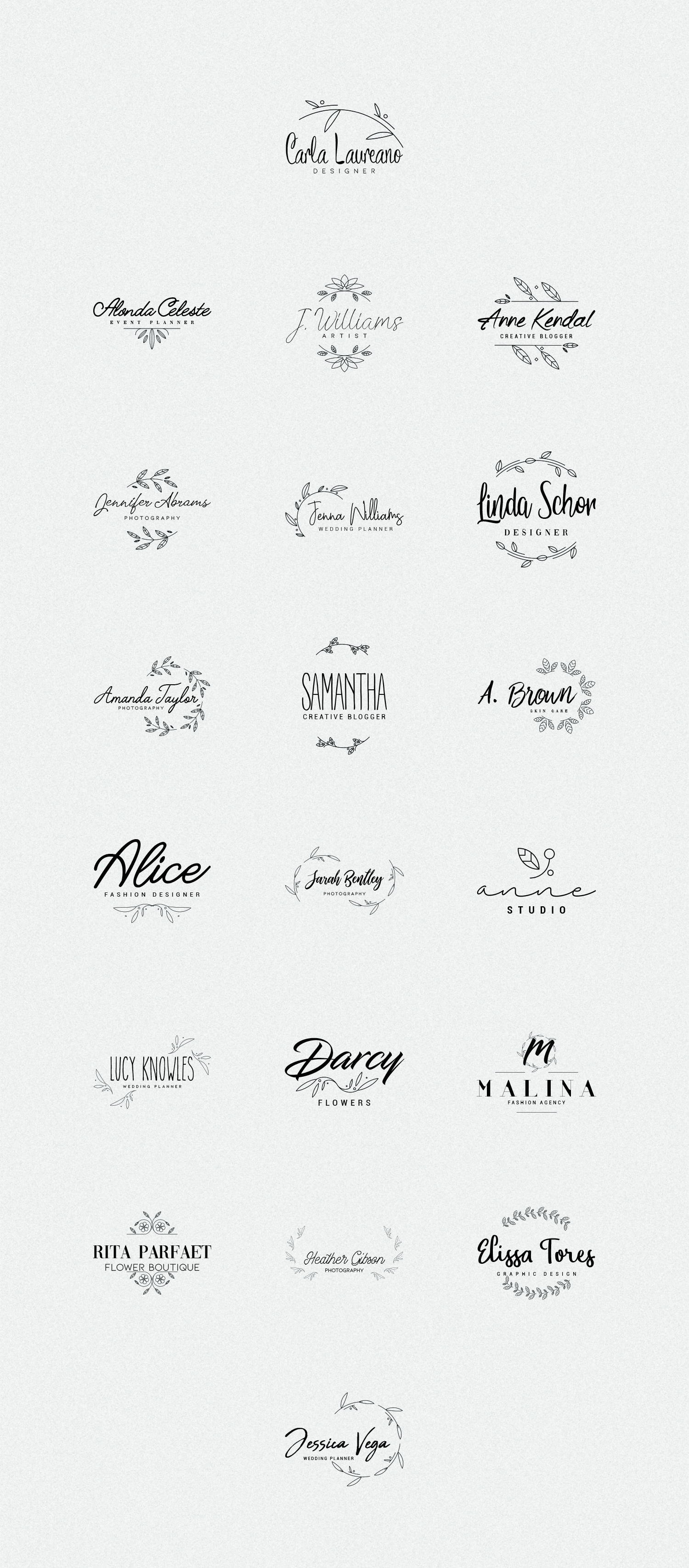 20 Elegance Logo Design Bundle - Logo Templates