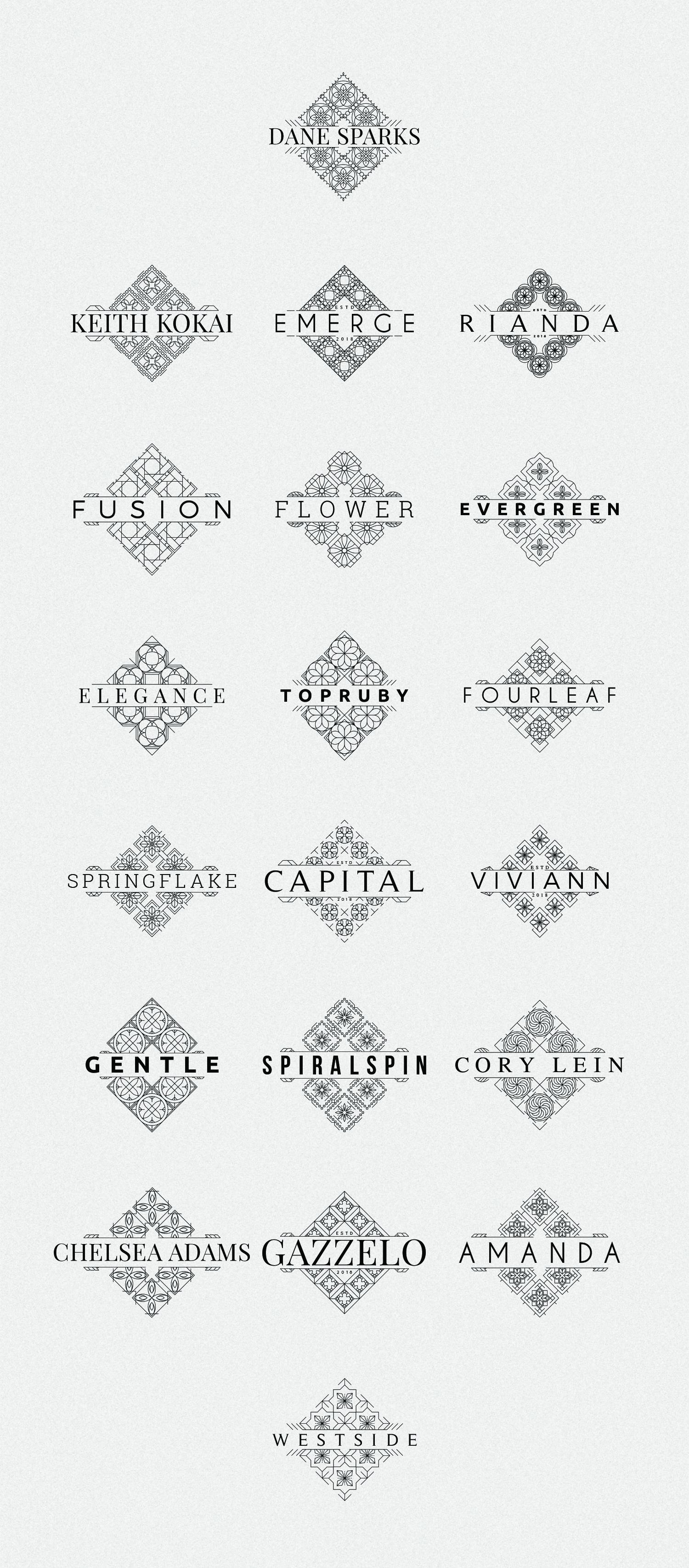 40 SV Mosaic Logo Templates - Mosaic Logo Templates Part2