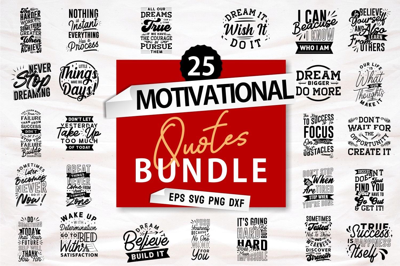 Motivational quote bundle.Quote Designs.