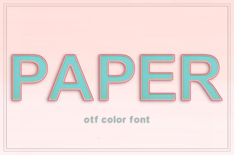 21 Color Fonts: FaeryDesign & PandoraDreams Render Fonts - Paper 00