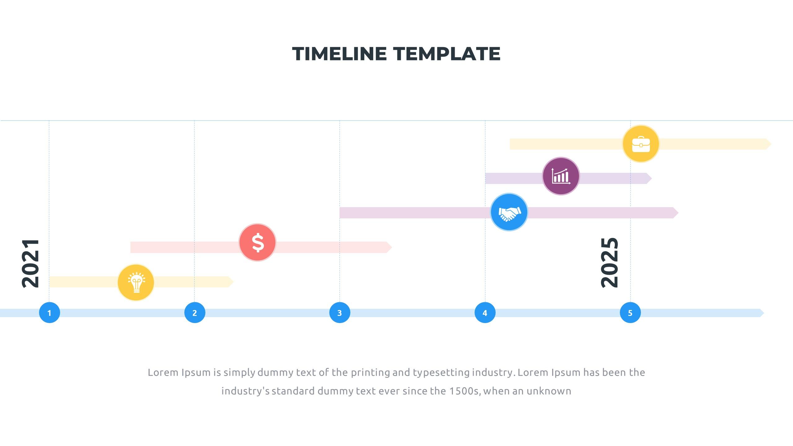 36 Timeline Presentation Templates: Powerpoint, Google Slides, Keynote - Slide23