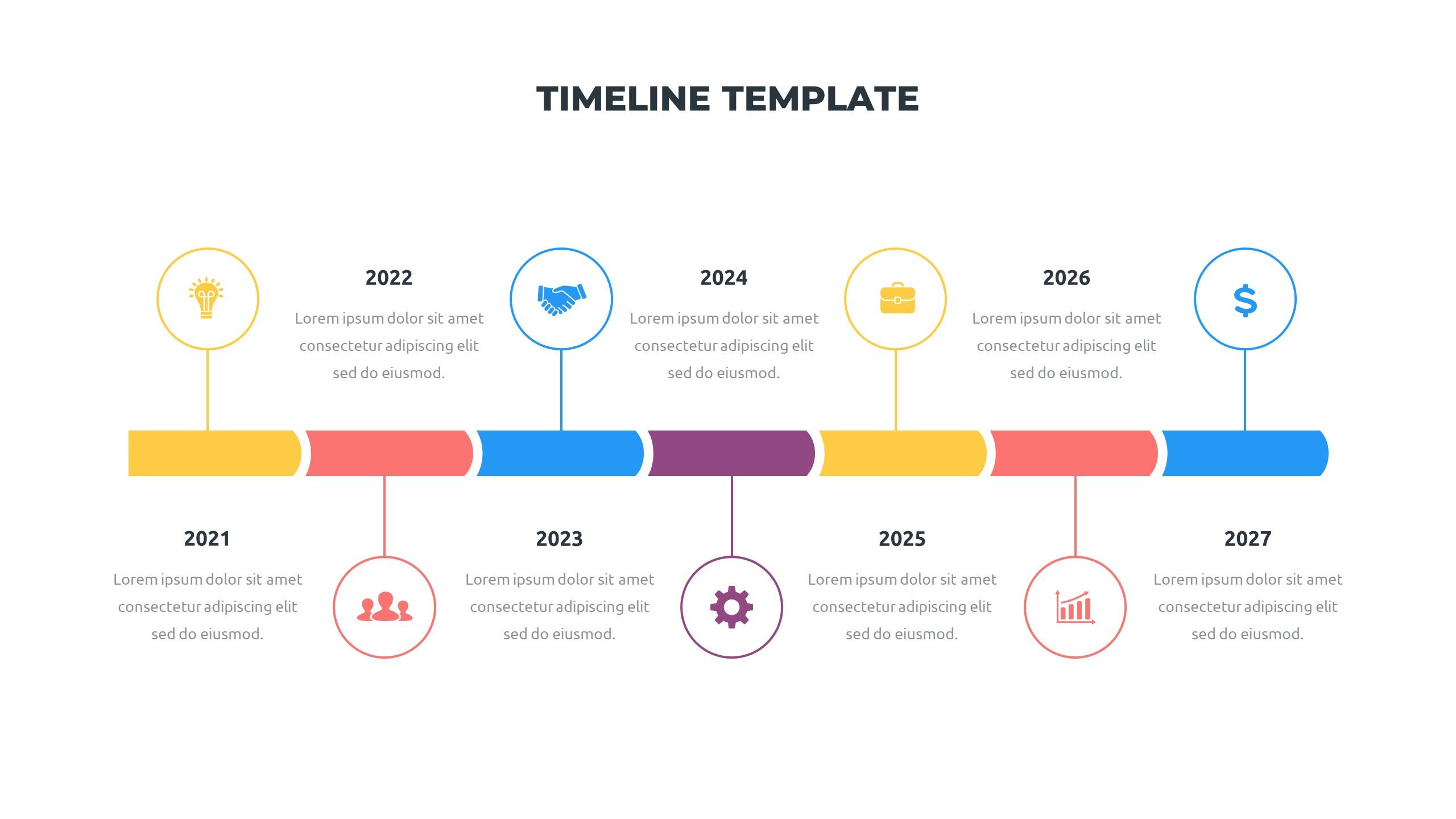 36 Timeline Presentation Templates: Powerpoint, Google Slides, Keynote - Slide27