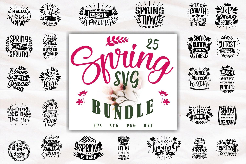 Spring svg bundle.Quote Designs.