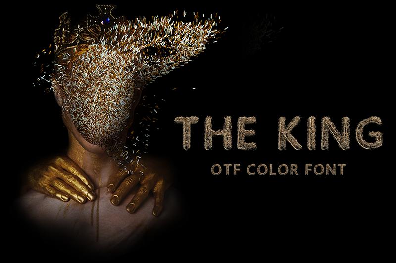 21 Color Fonts: FaeryDesign & PandoraDreams Render Fonts - The King 00