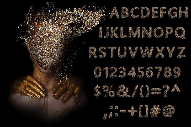 21 Color Fonts: FaeryDesign & PandoraDreams Render Fonts - The King 01
