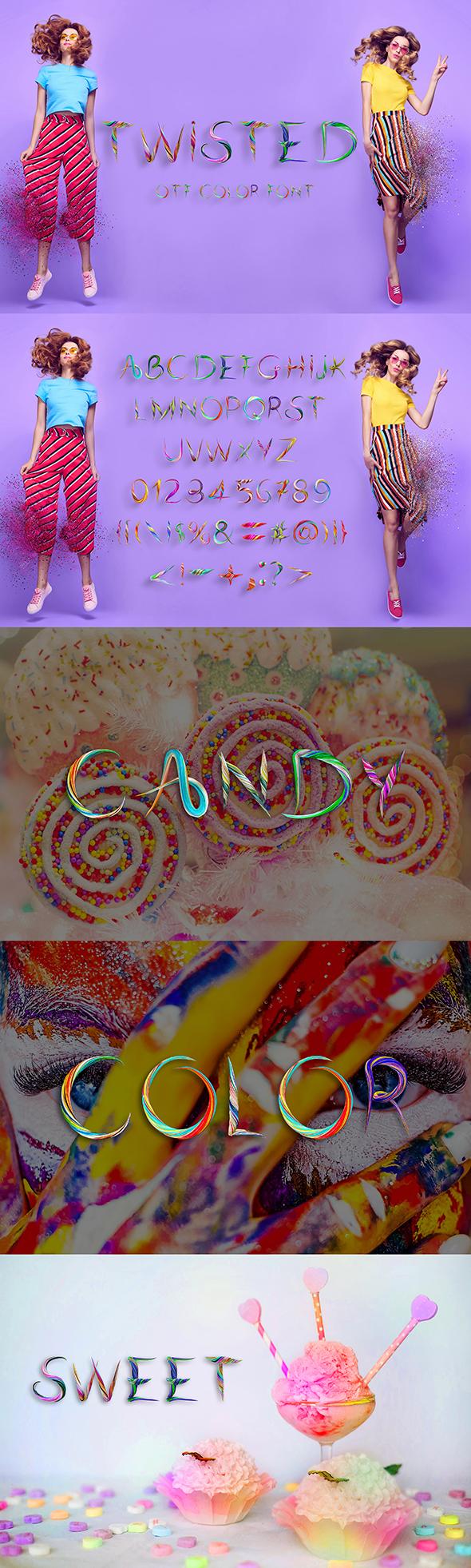 21 Color Fonts: FaeryDesign & PandoraDreams Render Fonts - TwistedEnvato