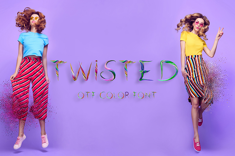 21 Color Fonts: FaeryDesign & PandoraDreams Render Fonts - Twisted 00