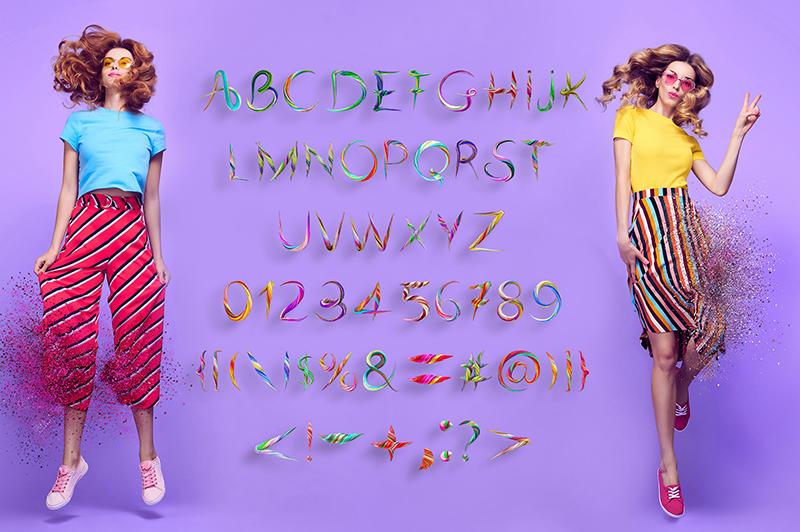 21 Color Fonts: FaeryDesign & PandoraDreams Render Fonts - Twisted 01