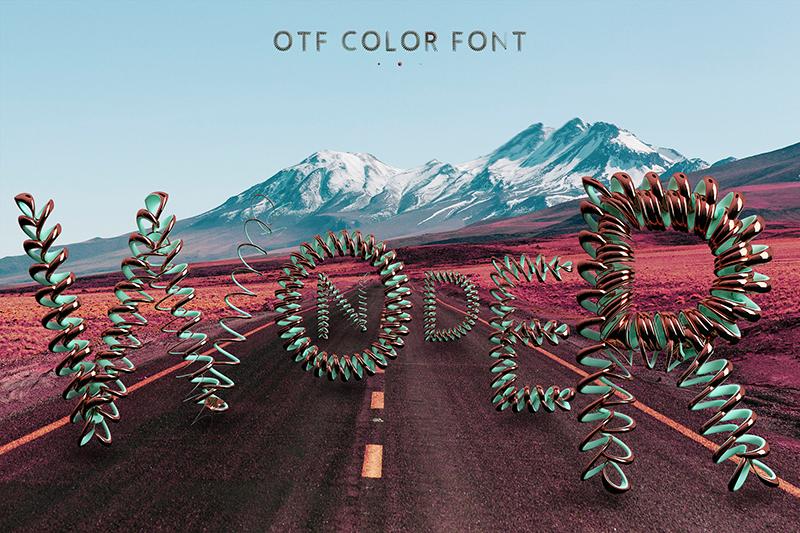 21 Color Fonts: FaeryDesign & PandoraDreams Render Fonts - Wonder 00