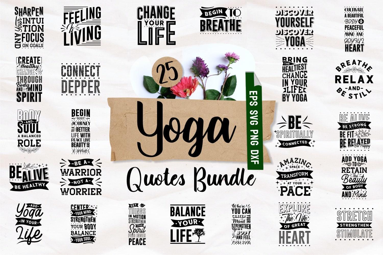 Yoga quotes bundle.Quote Designs.