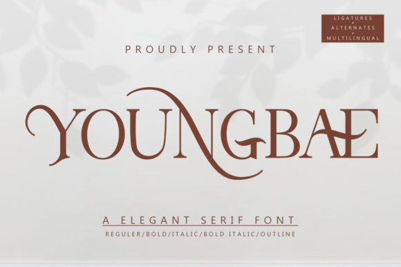 Youngbae Modern Regular Font - Youngbae Fonts 7156528 1 1 580x386