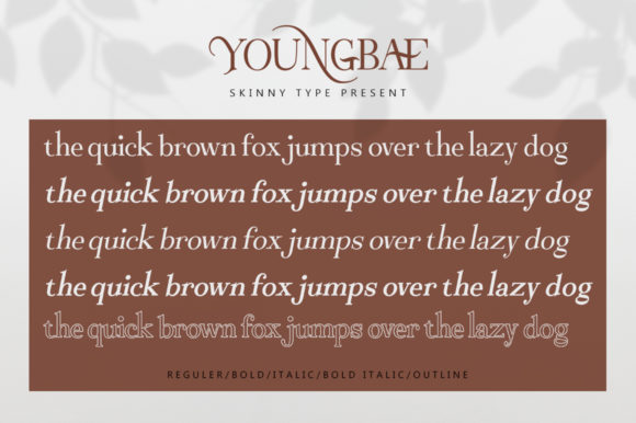 Youngbae Modern Regular Font - Youngbae Fonts 7156528 8 580x386