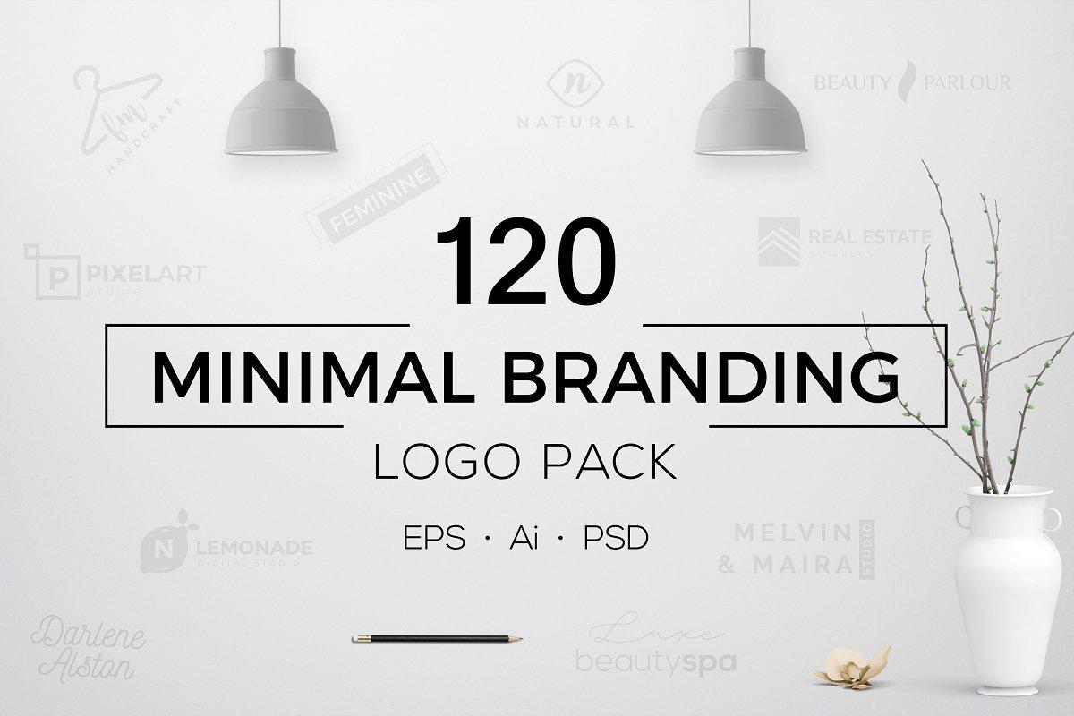 120 Minimal Branding Logo Pack - a minimalist logo design