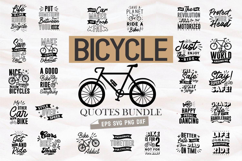 Bicycle quotes bundle.Quote Designs.