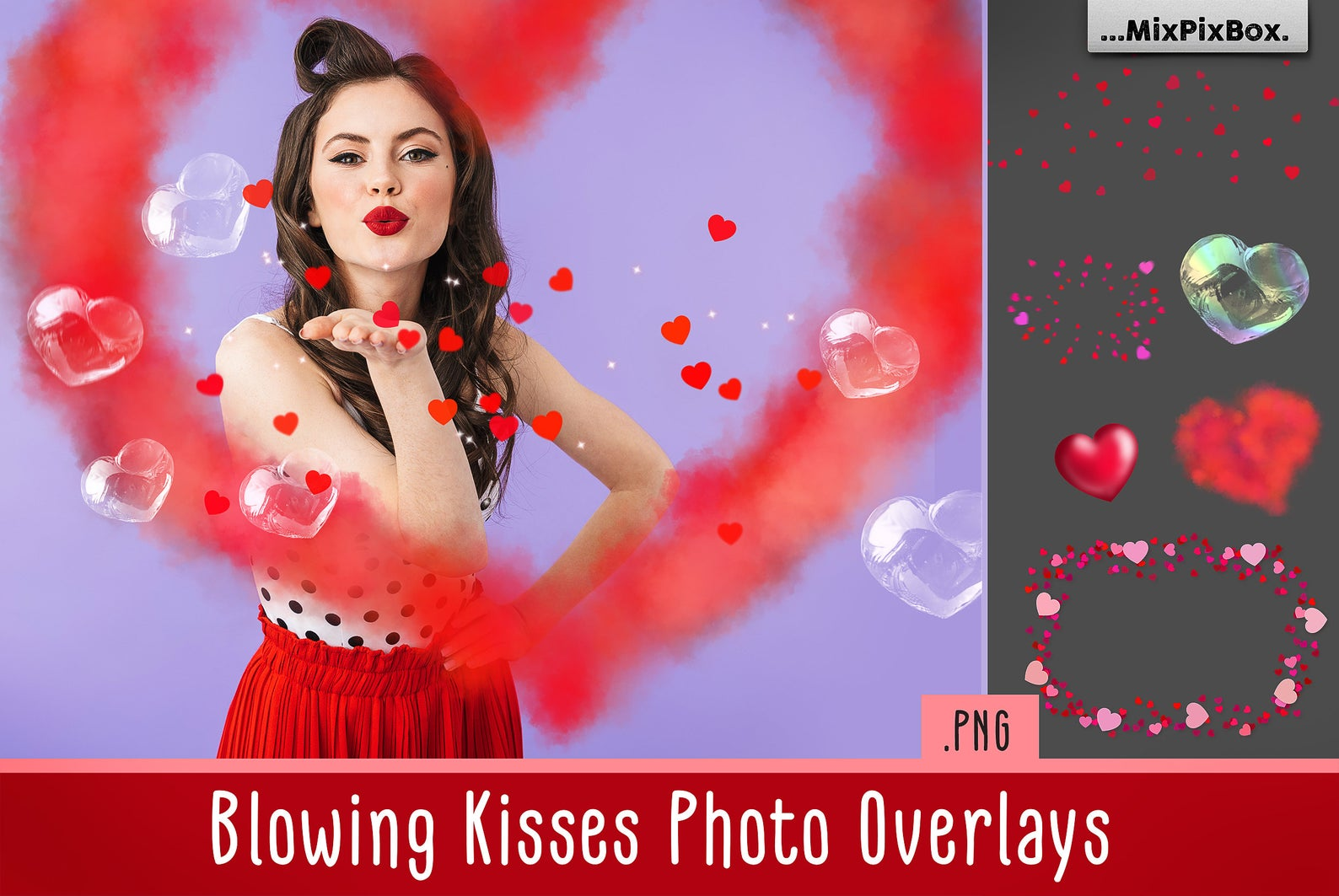 Love Overlays PNG: 38 Photo Overlays High Resolution - blowing kisses first image